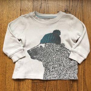 Carter's Waffle Knit Long Sleeve T-shirt
